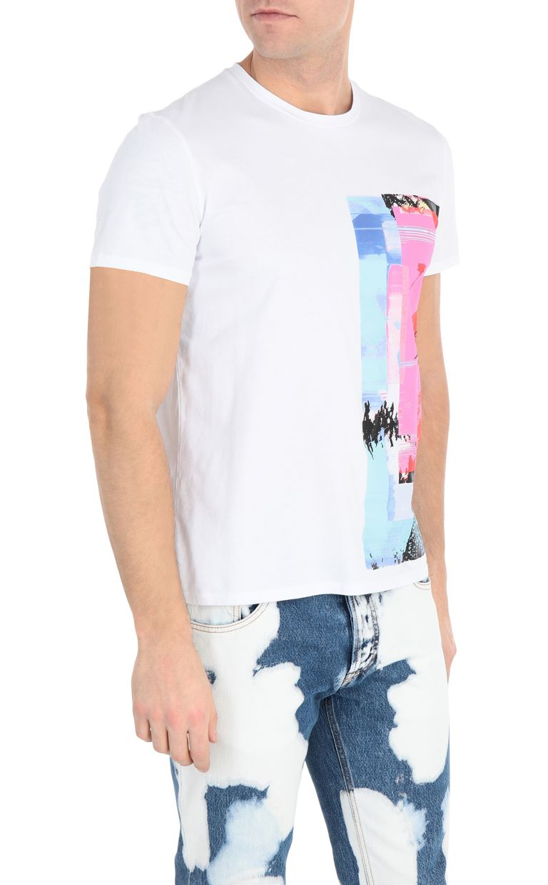 JUST CAVALLI T-shirt with glitch print Short sleeve t-shirt Man f