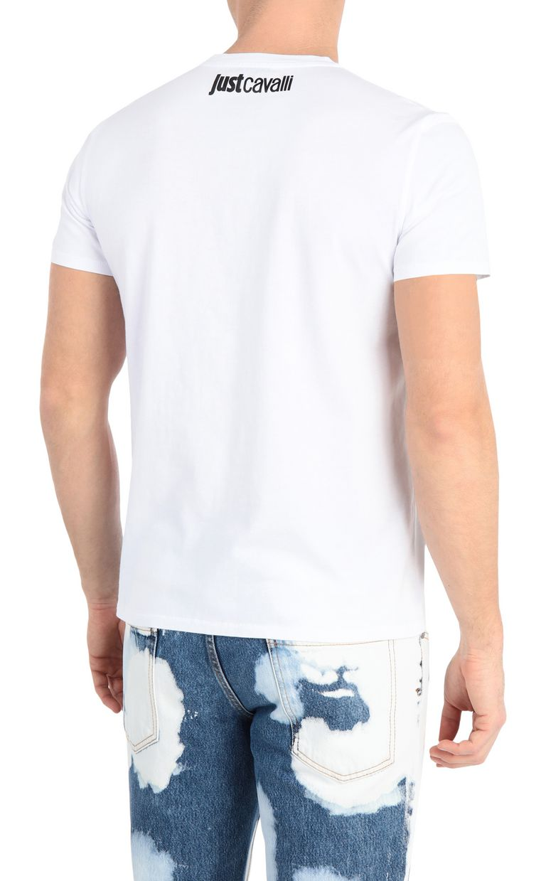JUST CAVALLI T-shirt with glitch print Short sleeve t-shirt Man r
