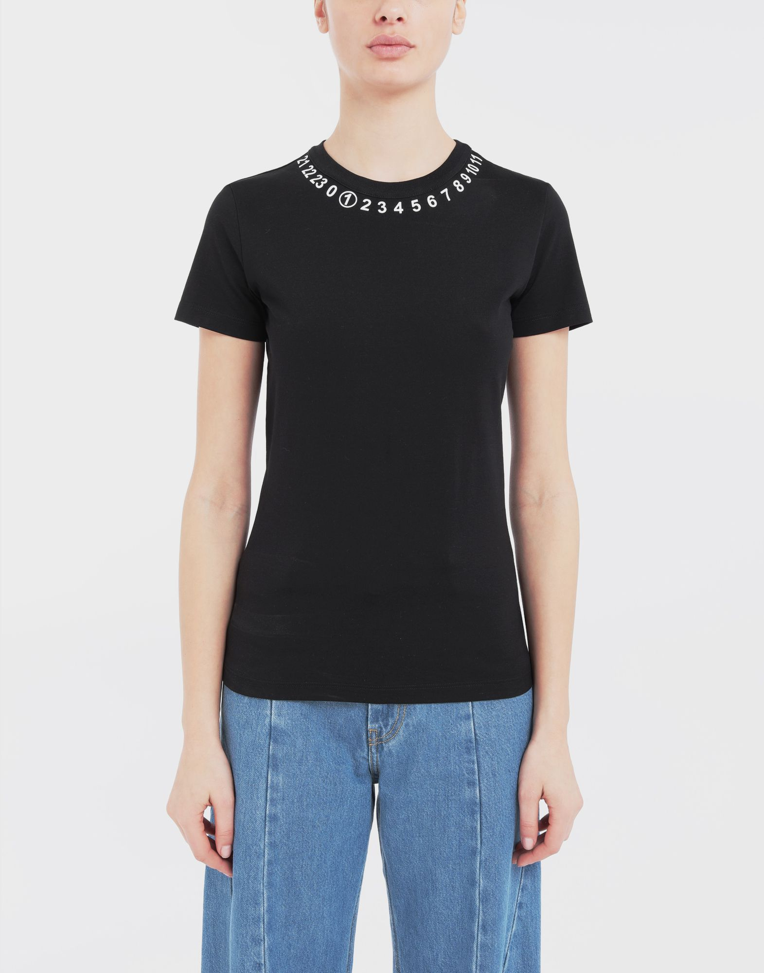 MAISON MARGIELA Logo-embellished jersey T-shirt Short sleeve t-shirt Woman r