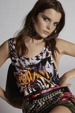 DSQUARED2 Tie And Dye Top Sleeveless t-shirt Woman