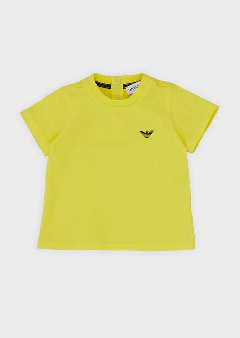 T-Shirt aus weicher Baumwolle mit Logo und kleinen Knöpfen am Rücken