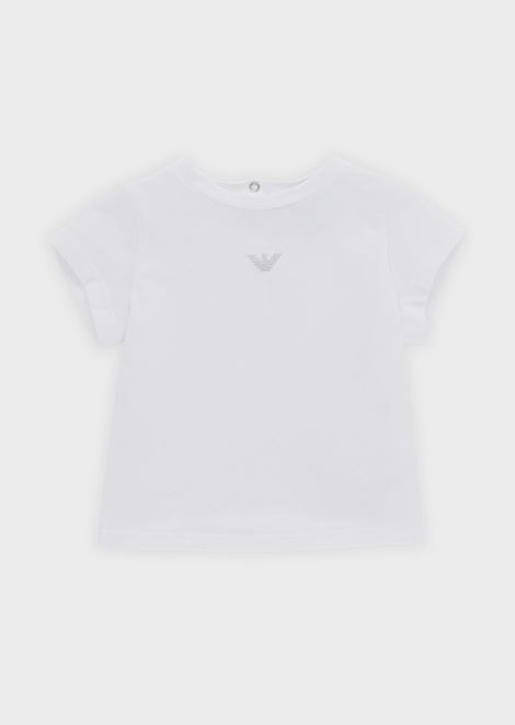T-shirt in soft jersey with glitter logo