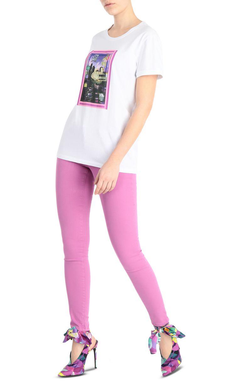 JUST CAVALLI T-shirt with desktop print Short sleeve t-shirt Woman d