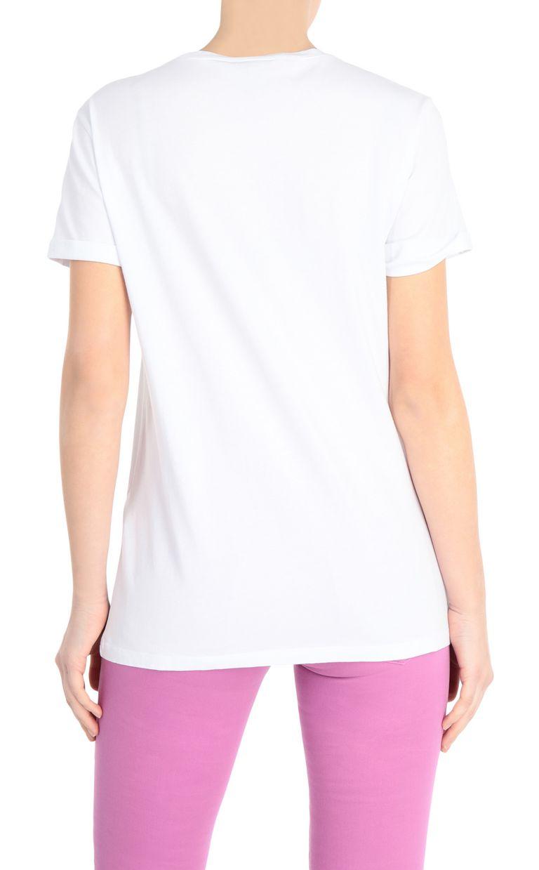 JUST CAVALLI T-shirt with desktop print Short sleeve t-shirt Woman r