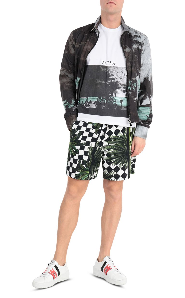 JUST CAVALLI T-shirt with surfer print Short sleeve t-shirt Man d