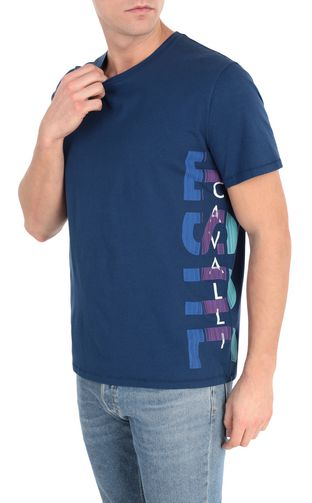 Blue t-shirt with logo print