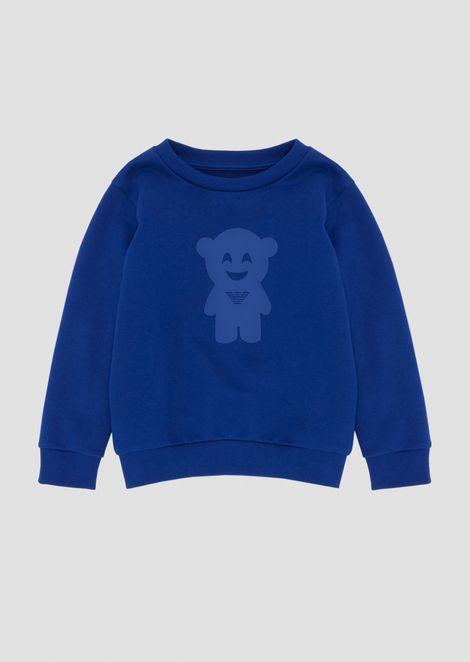 Manga Bear crew neck sweatshirt with print
