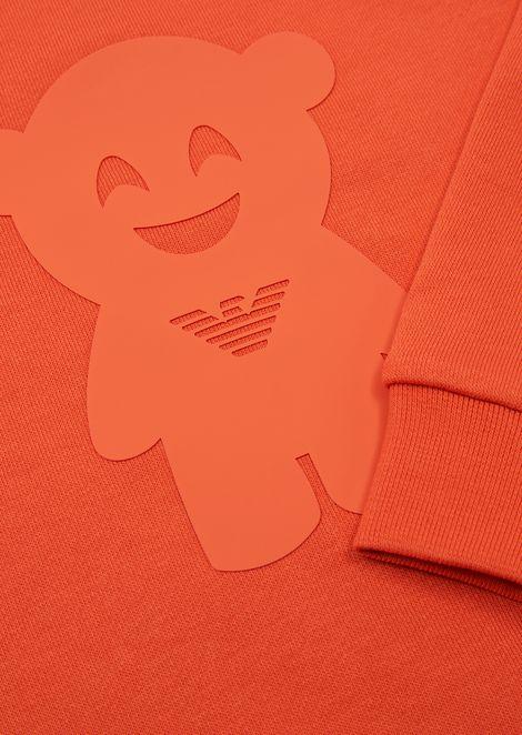 Manga Bear crew-neck sweatshirt with print