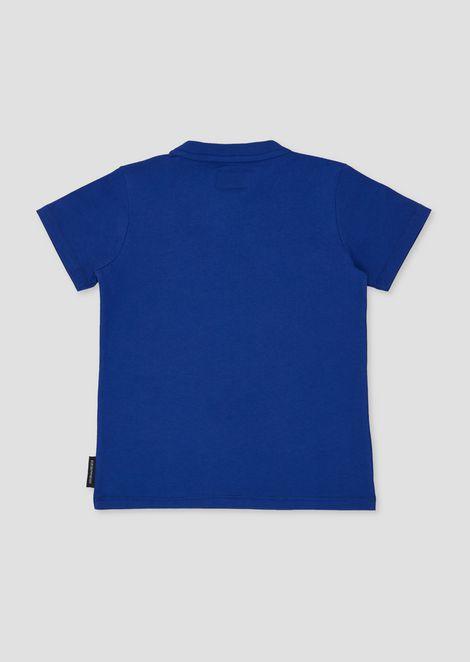 Camiseta de algodón puro con maxilogotipo estampado