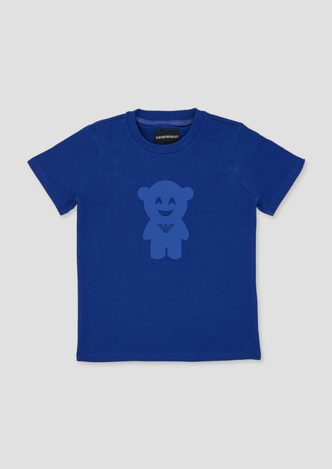 Pure cotton Manga Bear T-shirt