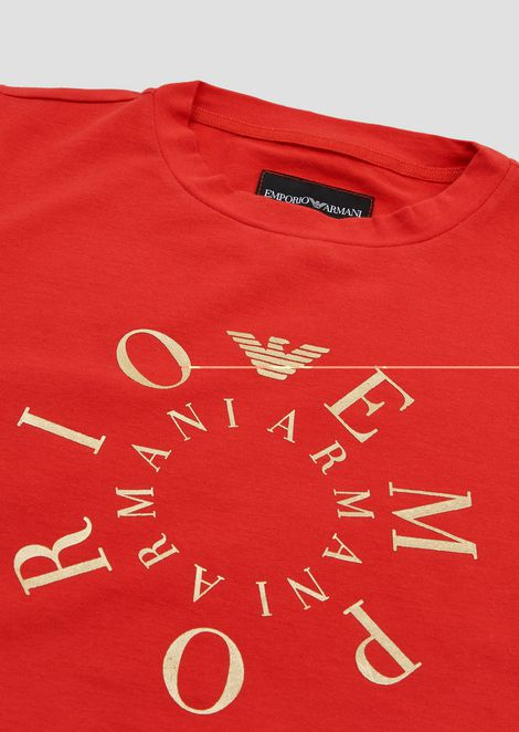 Jersey T-shirt with contrasting logo