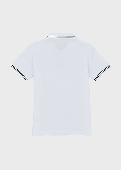 Short-sleeved polo shirt with embroidered logo