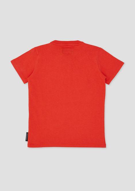 T-shirt in puro cotone con maxi-logo stampato