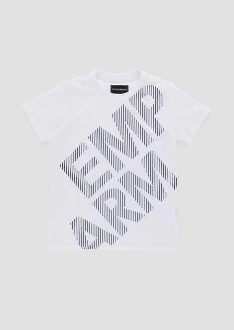Pure cotton T-shirt with logo print