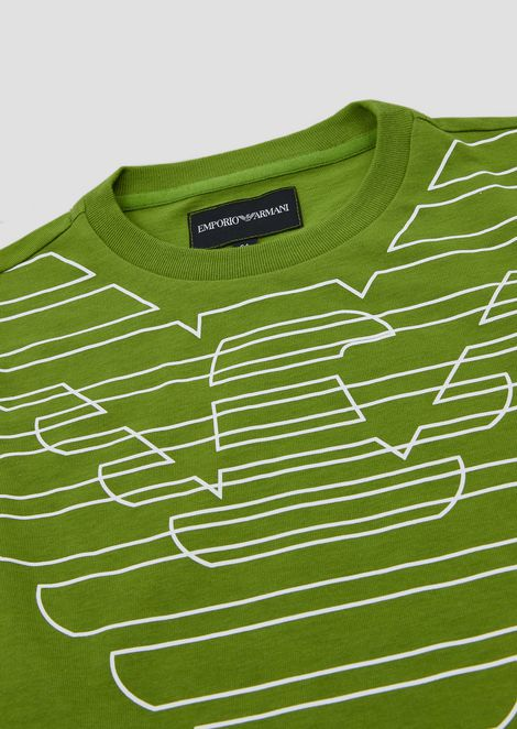 Pure cotton T-shirt with maxi logo print