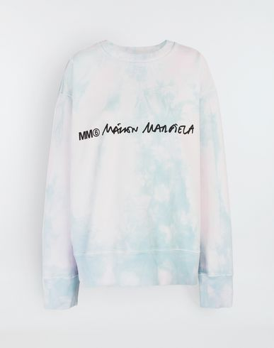 MM6 MAISON MARGIELA Sweatshirt [*** pickupInStoreShipping_info ***] Logo-embellished tie-dye cape sweatshirt f