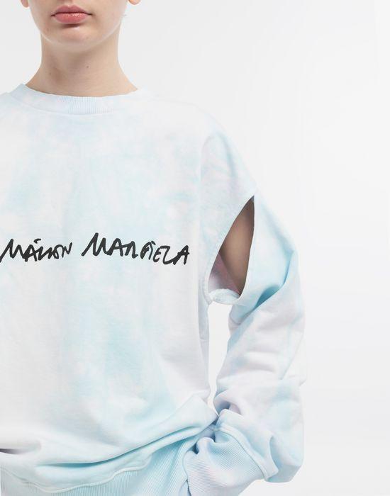 MM6 MAISON MARGIELA Logo-embellished tie-dye cape sweatshirt Sweatshirt [*** pickupInStoreShipping_info ***] a