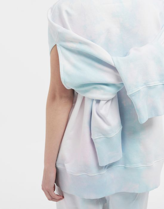 MM6 MAISON MARGIELA Logo-embellished tie-dye cape sweatshirt Sweatshirt [*** pickupInStoreShipping_info ***] b