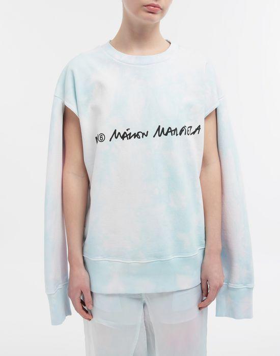 MM6 MAISON MARGIELA Logo-embellished tie-dye cape sweatshirt Sweatshirt [*** pickupInStoreShipping_info ***] r