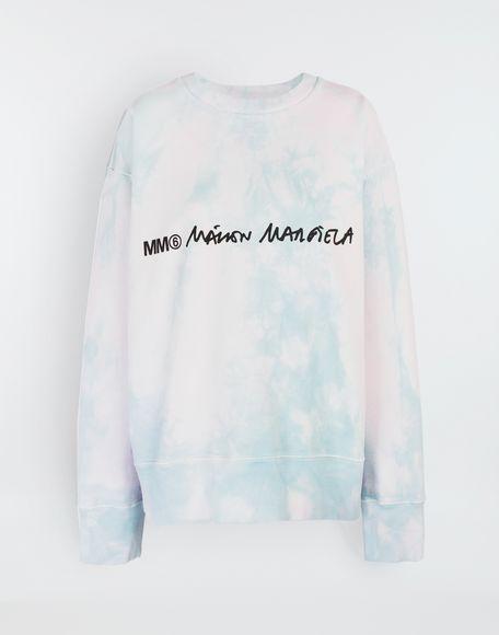 brand new 3be21 32bad Maison Margiela Logo Embellished Tie Dye Cape Sweatshirt ...