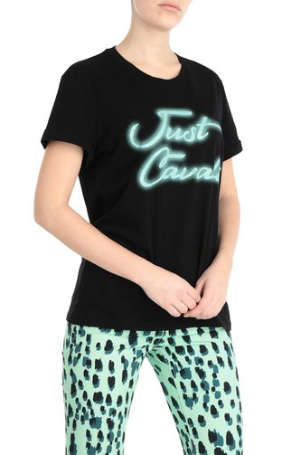 JUST CAVALLI Short sleeve t-shirt Woman T-shirt with floral print f