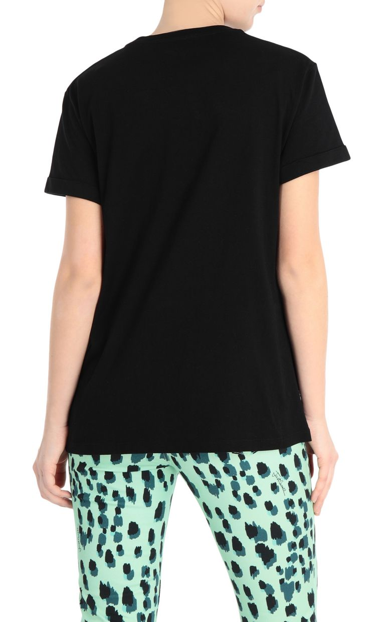 JUST CAVALLI T-shirt with neon logo Short sleeve t-shirt Woman r