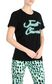 JUST CAVALLI T-shirt with neon logo Short sleeve t-shirt Woman f