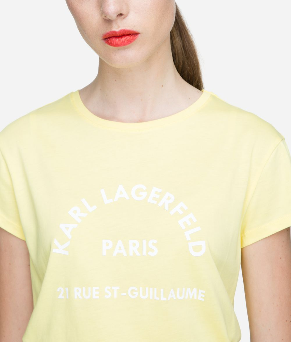 KARL LAGERFELD Rue Lagerfeld Logo T-Shirt T-shirt Woman d