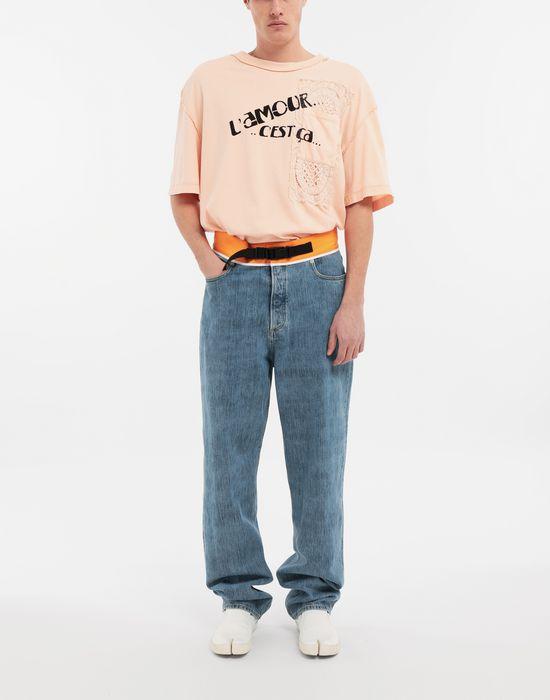 MAISON MARGIELA T-shirt en coton avec imprimé graphique T-shirt manches courtes [*** pickupInStoreShippingNotGuaranteed_info ***] d