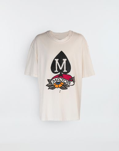 MAISON MARGIELA M Spade logo printed T-shirt Short sleeve t-shirt [*** pickupInStoreShippingNotGuaranteed_info ***] f