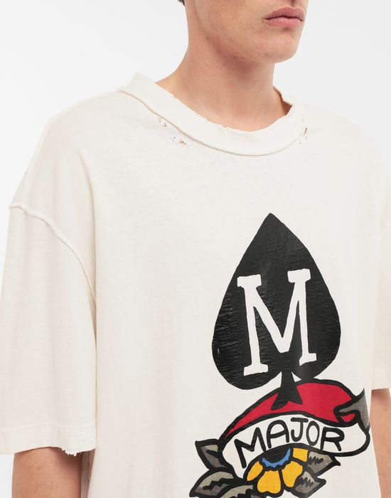 MAISON MARGIELA M Spade ロゴ プリント Tシャツ T シャツ [*** pickupInStoreShippingNotGuaranteed_info ***] a