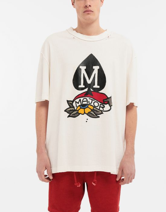 MAISON MARGIELA M Spade ロゴ プリント Tシャツ T シャツ [*** pickupInStoreShippingNotGuaranteed_info ***] r