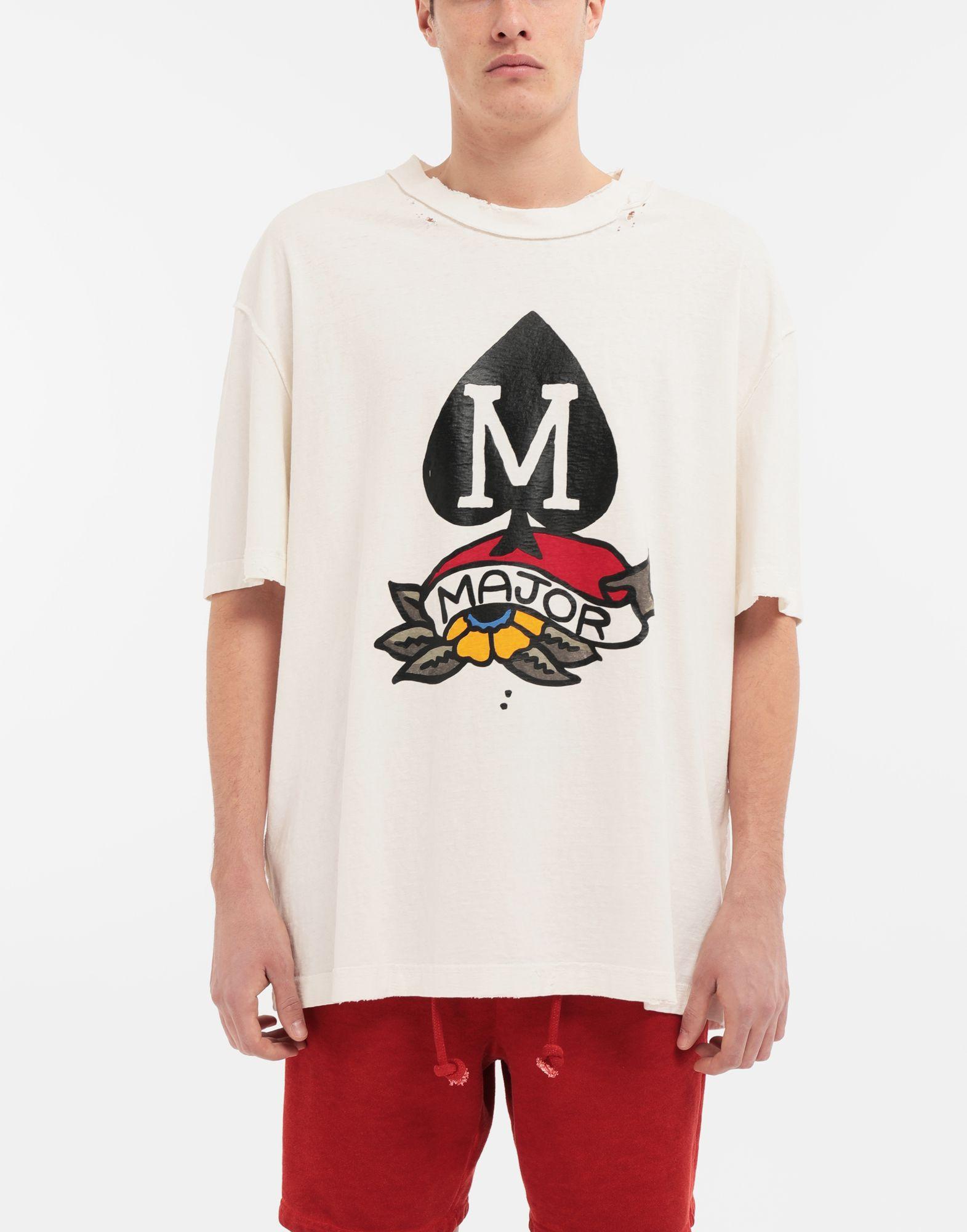 MAISON MARGIELA M Spade logo printed T-shirt Short sleeve t-shirt Man r