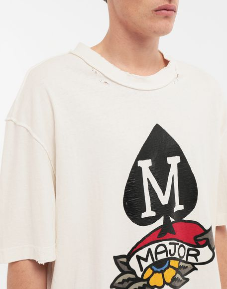 MAISON MARGIELA M Spade logo printed T-shirt Short sleeve t-shirt Man a