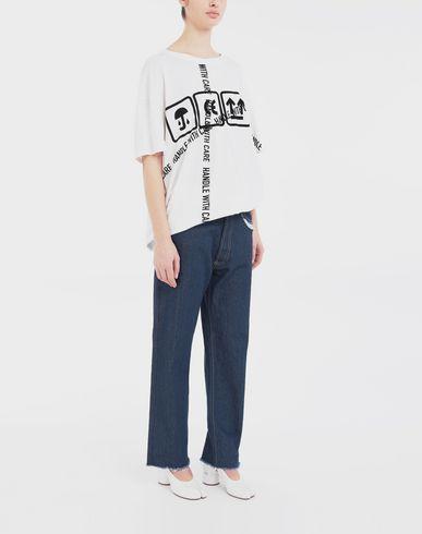 TOPS & TEES Carton-print oversized T-Shirt
