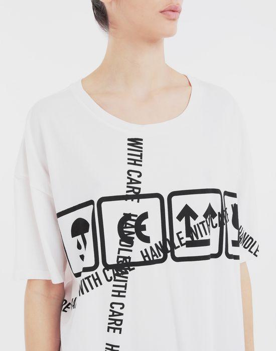 MAISON MARGIELA Cartoon-print oversized T-Shirt Short sleeve t-shirt [*** pickupInStoreShipping_info ***] a