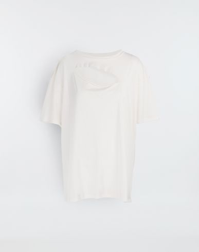MM6 MAISON MARGIELA Short sleeve t-shirt [*** pickupInStoreShipping_info ***] Cut-out jersey T-shirt f