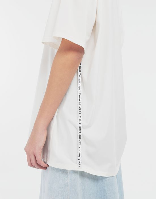 MM6 MAISON MARGIELA Cut-out jersey T-shirt Short sleeve t-shirt [*** pickupInStoreShipping_info ***] b