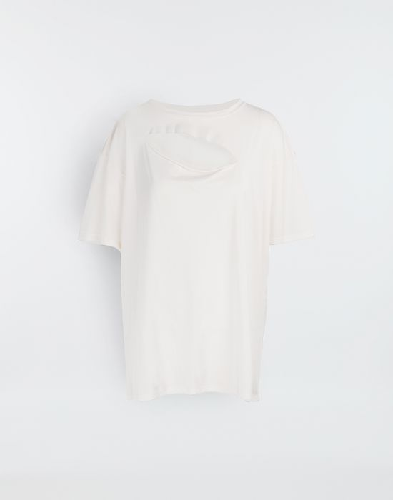 MM6 MAISON MARGIELA Cut-out jersey T-shirt Short sleeve t-shirt [*** pickupInStoreShipping_info ***] f
