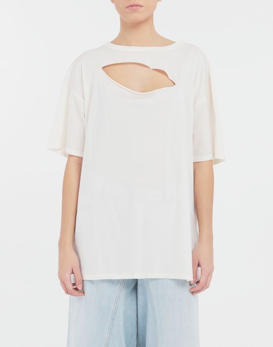 MM6 MAISON MARGIELA Cut-out jersey T-shirt Short sleeve t-shirt [*** pickupInStoreShipping_info ***] r