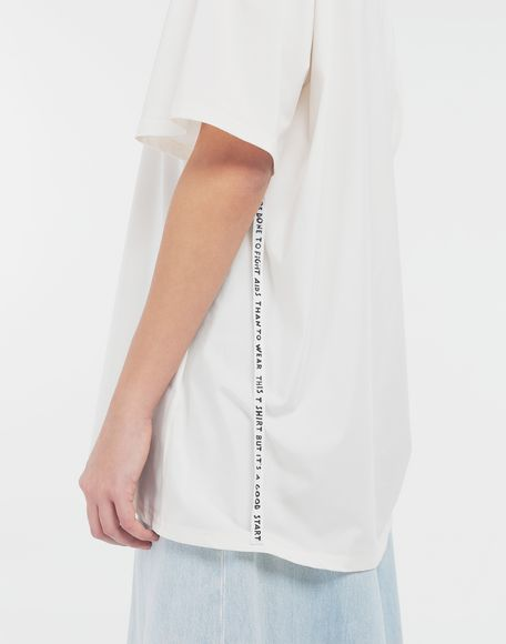 MM6 MAISON MARGIELA Cut-out jersey T-shirt Short sleeve t-shirt Woman b