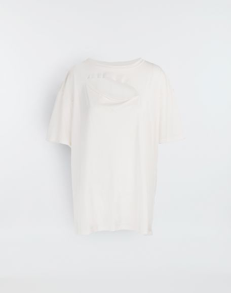 MM6 MAISON MARGIELA Cut-out jersey T-shirt Short sleeve t-shirt Woman f