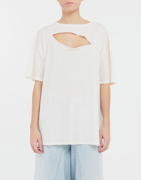 MM6 MAISON MARGIELA Cut-out jersey T-shirt Short sleeve t-shirt Woman r