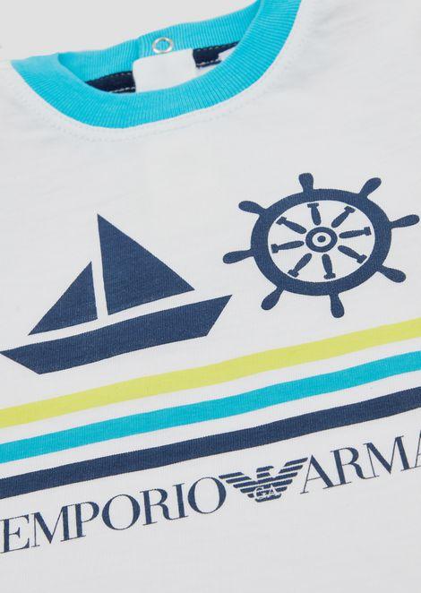 T-Shirt aus Jersey mit nautischem Print