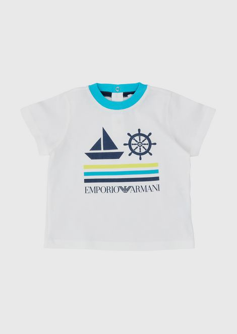 Jersey T-shirt with nautical print