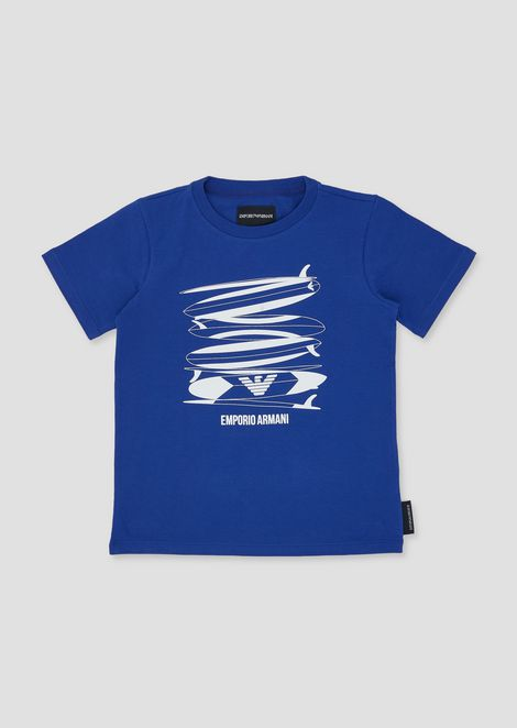 Jersey T-shirt with surf print