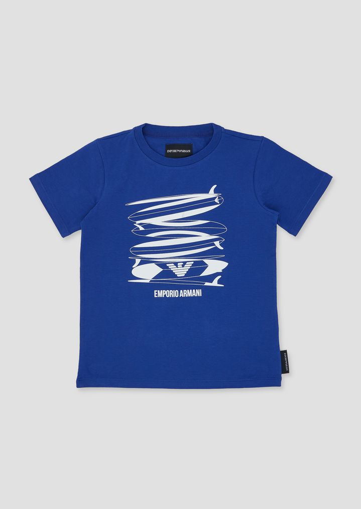 e3cb10a097 Jersey T-shirt with surf print