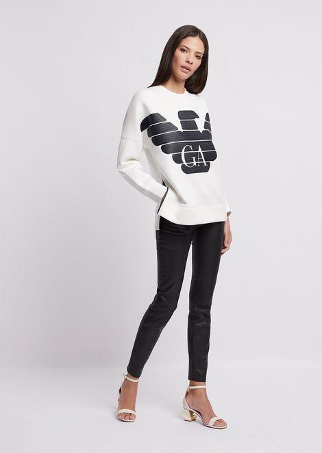 R-EA-MIX sweatshirt with rubberized maxi logo