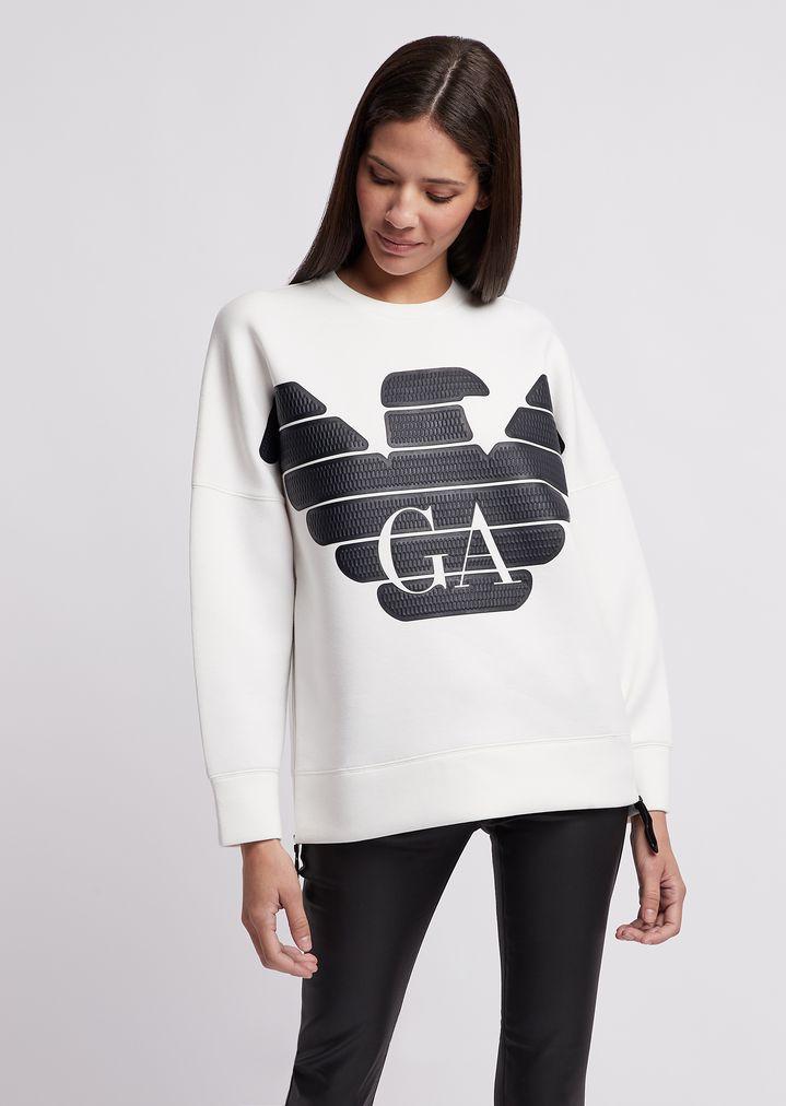049f214f01 R-EA-MIX sweatshirt with rubberised maxi-logo