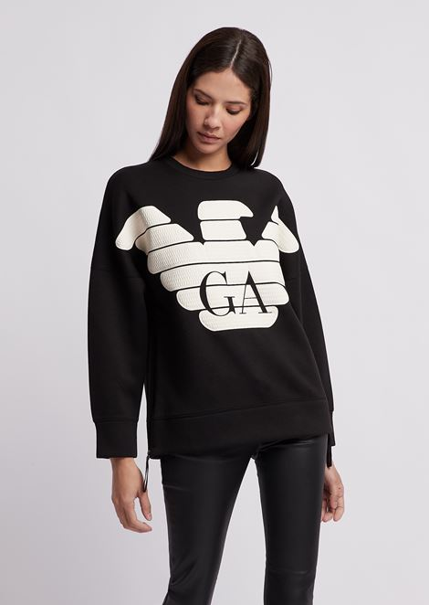 R-EA-MIX sweatshirt with rubberized maxi logo